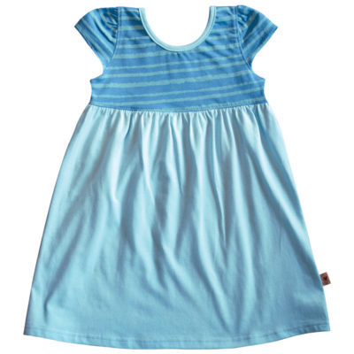 B1AQ - BB Aqua Stripe Safari Dress Zoom 1