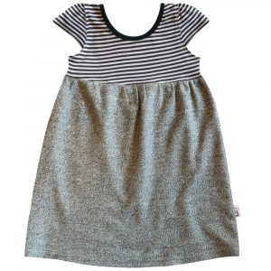 B1BG - BB Black & Grey Stripe Safari Dress