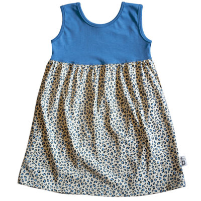 B1BL - BB Blue Leopard S_S Safari Dress