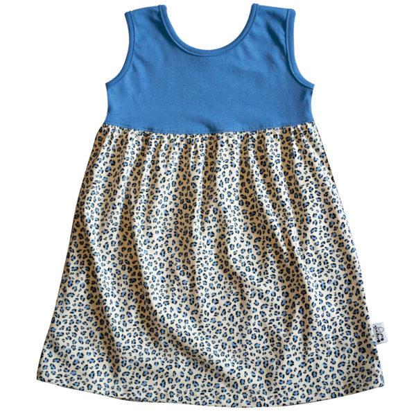B1BL - BB Blue Leopard S_S Safari Dress