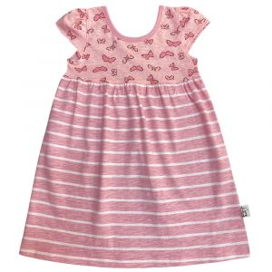 B1BS - BB Butterfly Stripe Safari Dress