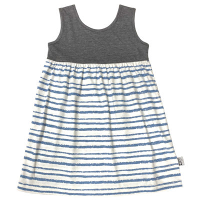 B1CB - BB Charcoal Blue SS Safari Dress