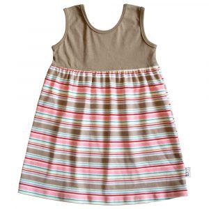 B1CS1 - Candy Stripe SS Safari Dress Zoom 1