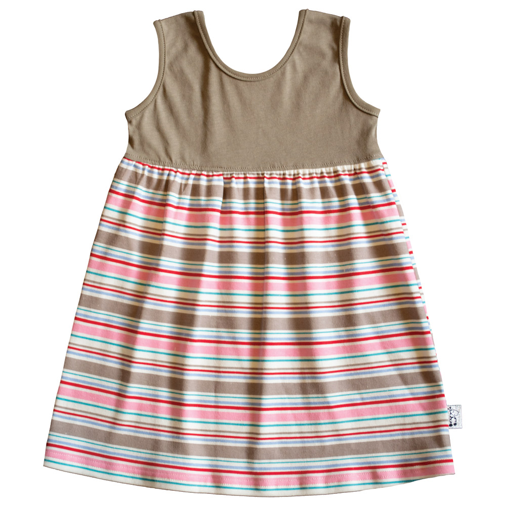 B1CS1 - Candy Stripe SS Safari Dress Zoom 1