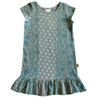 B1EB - BB Ethnic Border Green Princess Dress