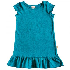 B1FE - BB Floral Emerald Princess Dress