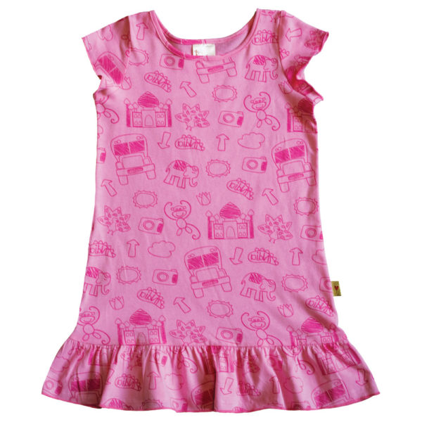 B1PS - BB Pink Scribble Princess Dress
