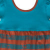 B1TS1 -BB Teal Stripe Safari Dress Zoom 2