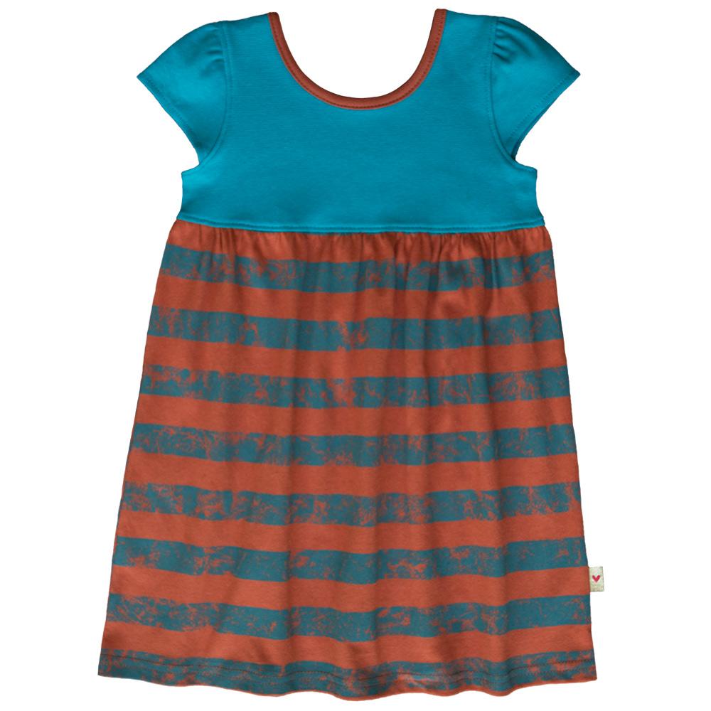 B1TS1 -BB Teal Stripe Safari Dress Zoom 2