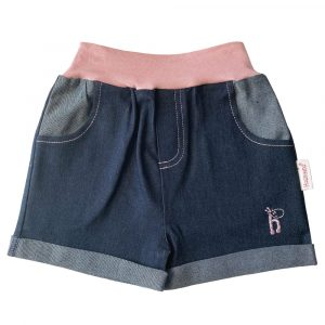 HJGGS Girls Denim Shorts Pink